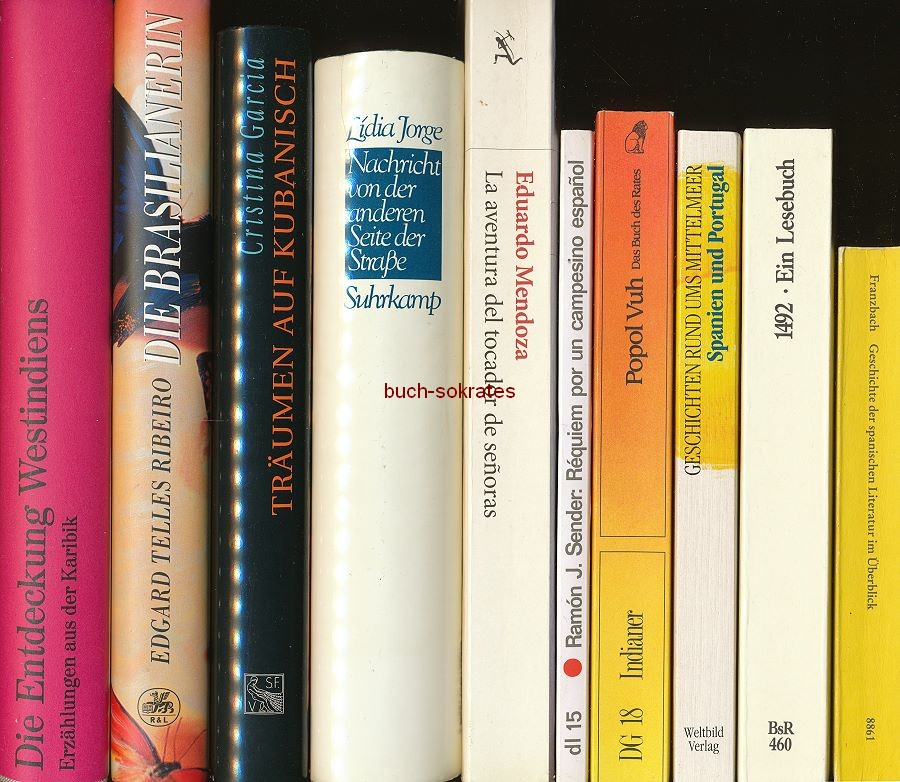 Konvolut 9 Bde. Spanien / Portugal, u.a. Lidia Jorge, Eduardo Mendoza, Popol Vuh. Das Buch des Rates