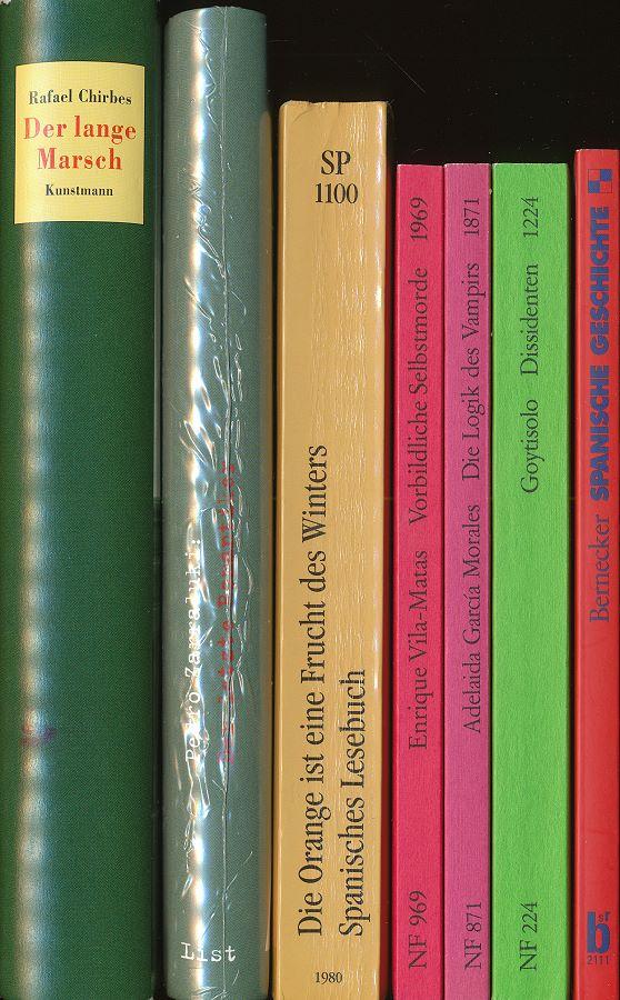 Konvolut 7 Bde. Belletristik Spanien, u.a. Rafael Chirbes