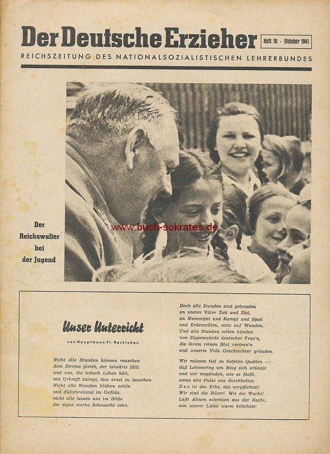 Der Deutsche Erzieher - Reichszeitung des nationalsozialistischen Lehrerbundes