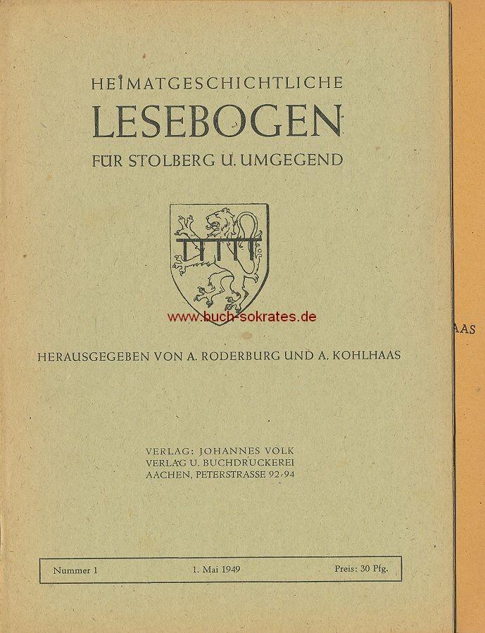 Heimatgeschichtlicher Lesebogen für Stolberg u. Umgebung, Nummer 1 u. 2 (1949)