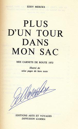 Signatur/signature Eddy Merckx