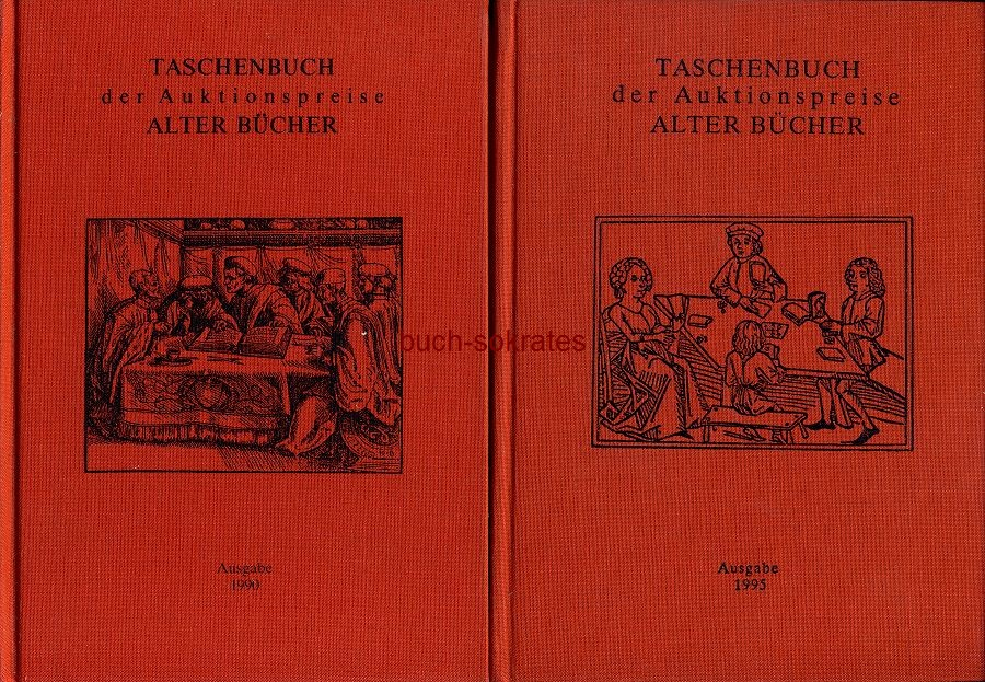 Konvolut 5 Bde. Taschenbuch der Auktionspreise alter Bücher - F. Radtke, Verlag für Büchersammler, Aachen (1990-1995)