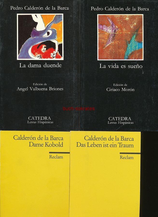4 Bde.: Pedro Calderón de la Barca: La vida es sueño / La dama duende / Das Leben ist ein Traum / Dame Kobold (1995)