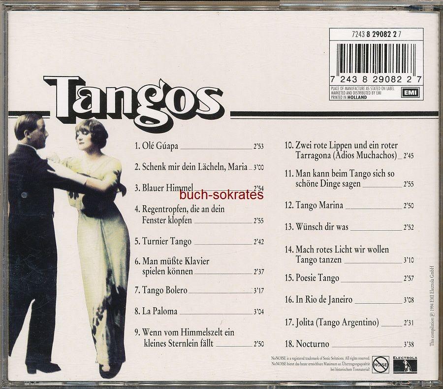 Audio-CD diverse: Tangos. Original-Aufnahmen aus den 30er und 40er Jahren (EMI Electrola, 1994)