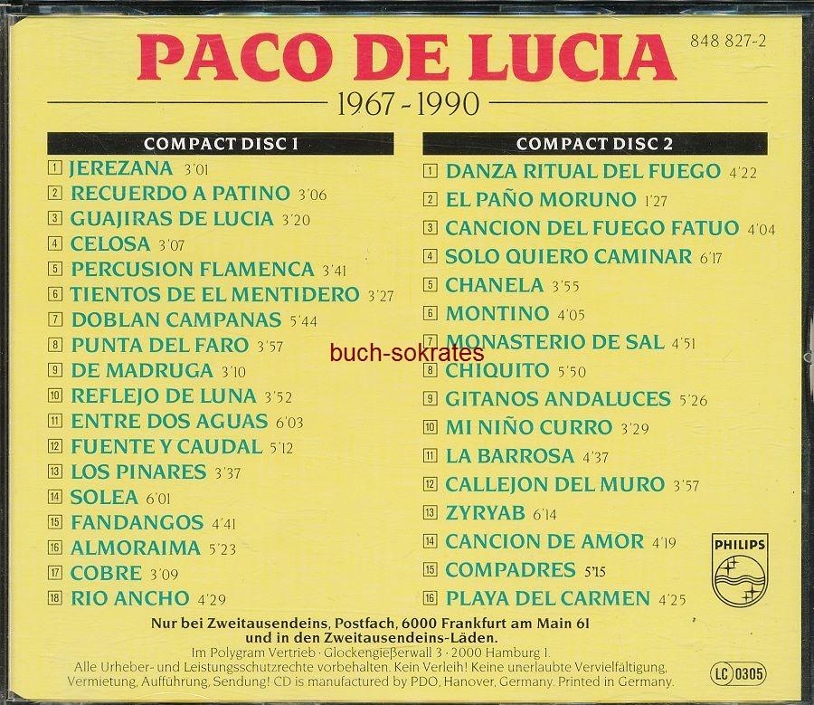 Audio-CD Paco de Lucia: Paco de Lucia 1967-1990)