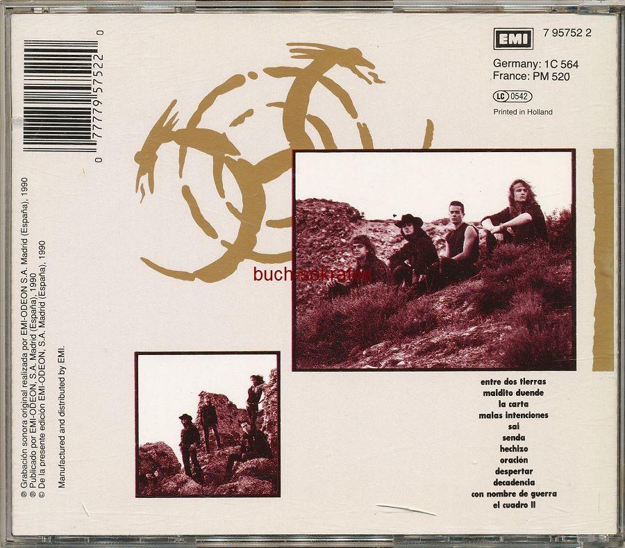 Audio-CDs Heroes del Silencio: Senderos de Traición (EMI, 1990)