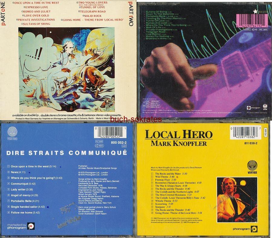 Audio-CDs Dire Straits / Mark Knopfler: Alchemy. Dire Straits live / Money for nothing / Communiqué / Mark Knopfler: Local Hero (1979-88)