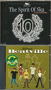 2 CDs: div.: The Spirit of Ska. 10 Years Jubilee Edition (Pork Pie / Vielklang / EFA; 1999) + div.: Welcome to Beatville. 18 Tasty Morsels from the Beatville Catalog (Beatville Records / EFA)