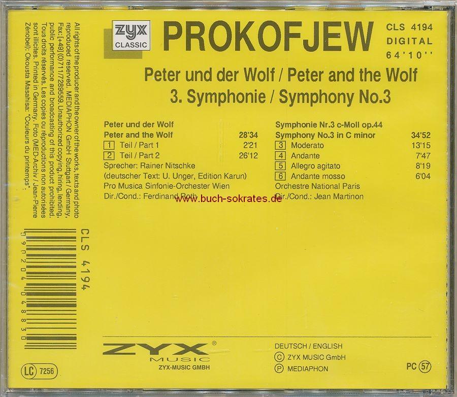 The World of Andersen Märchen - Hörspiele mit Musik; Erzähler Elmar Gunsch + Prokofjew: Peter und der Wolf, 3. Symphonie (1999)