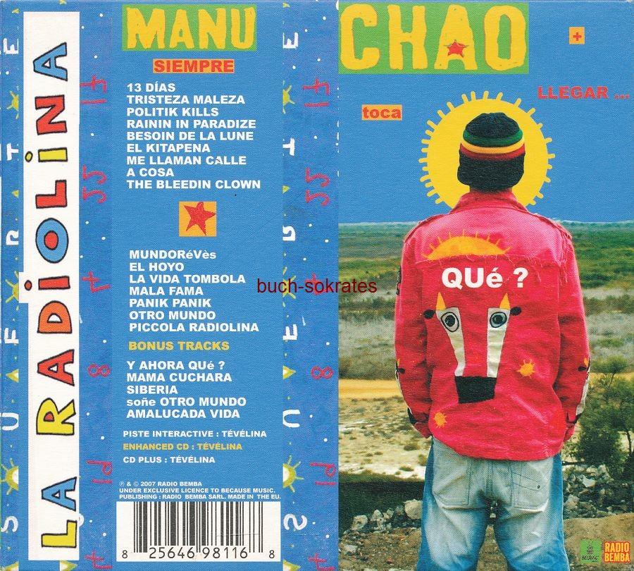 Audio-CDs Manu Chao: La Radiolina (Because Music, 2007)
