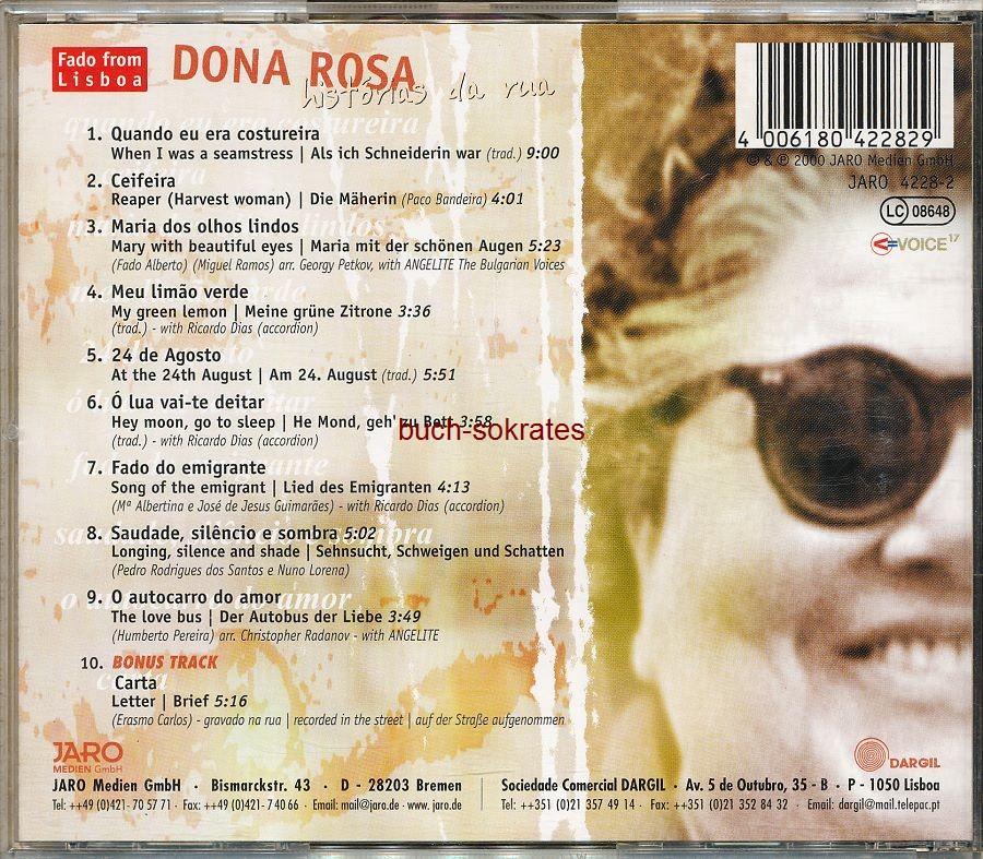 Audio-CD Dona Rosa: histórias da rua (Jaro Medien GmbH, 2000)