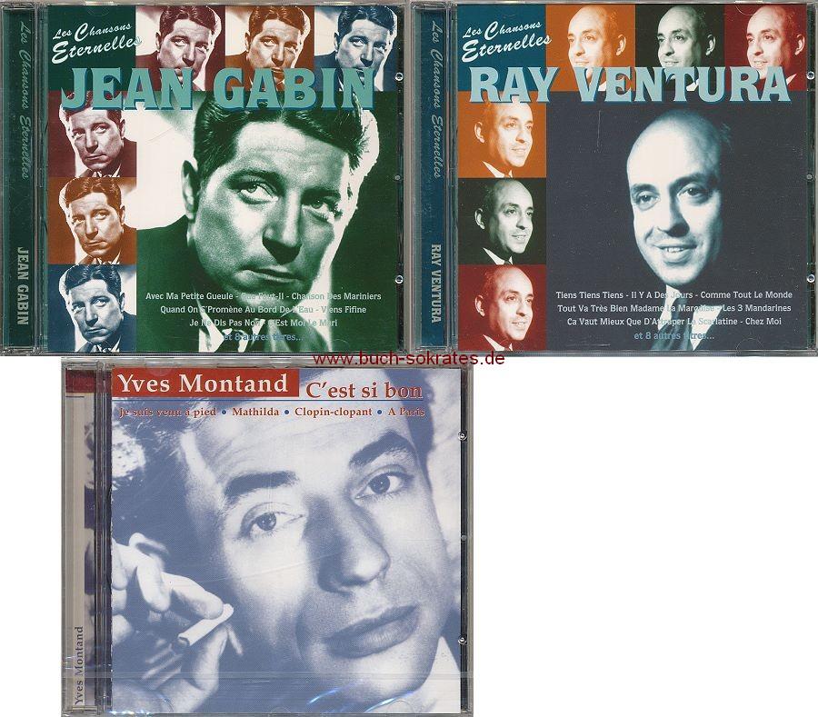 3 CDs Französische Chansons: Jean Gabin - Ray Ventura - Yves Montand: C est si bon (ca. 1995/1999)