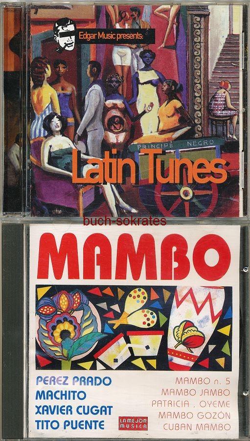 Audio-CDs Latin-Musik: Latin Tunes (EFA, 1998) / Mambo (Sarabandas, 1994) / Rockstar Music 22 (Charly Records, 1992)