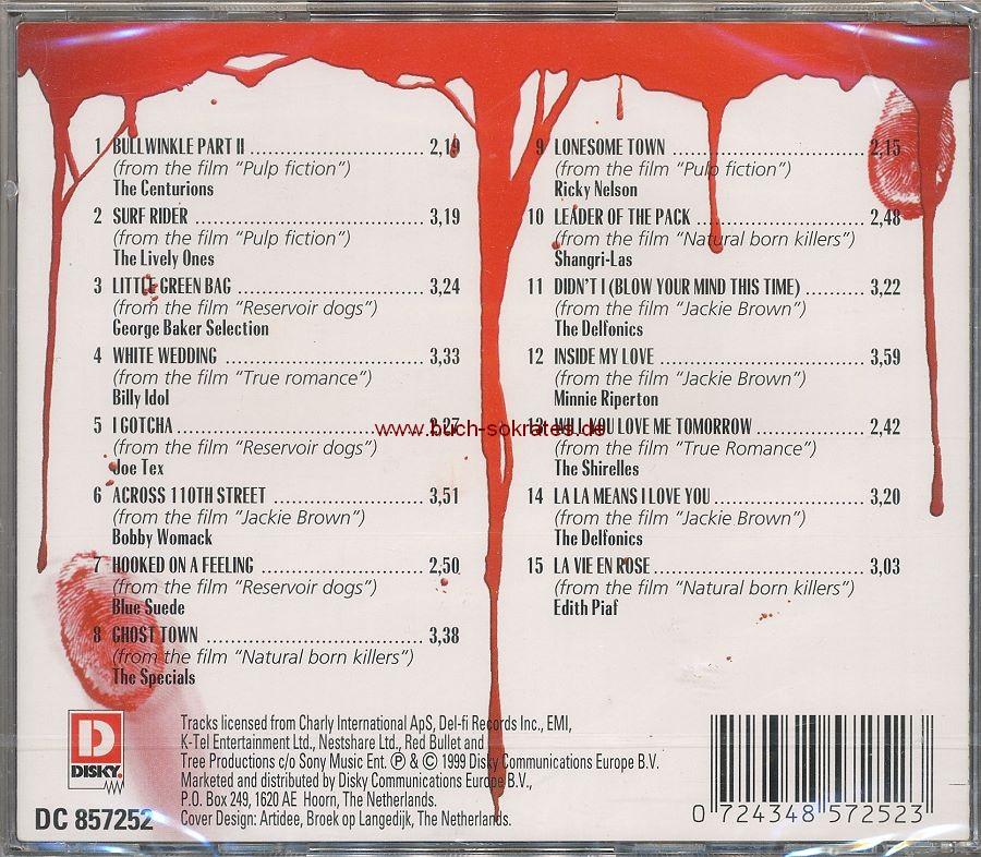Tarantino s Favourites / Film Themes: Pulp Fiction, Reservoir Dogs, True Romance ... (1999)