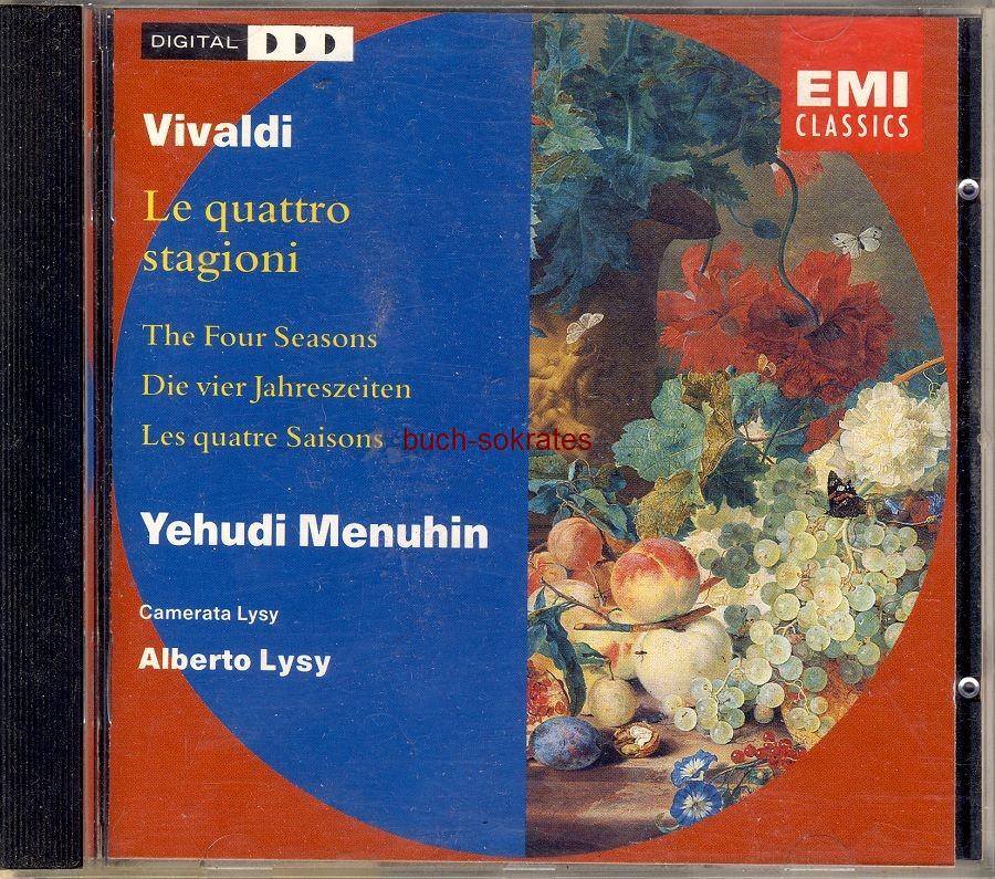 Audio-CD Antonio Vivaldi / Yehudi Menuhin: Le quattro stagioni / The Four Seasons (Die Vier Jahreszeiten) (Emi Classics, 1991)