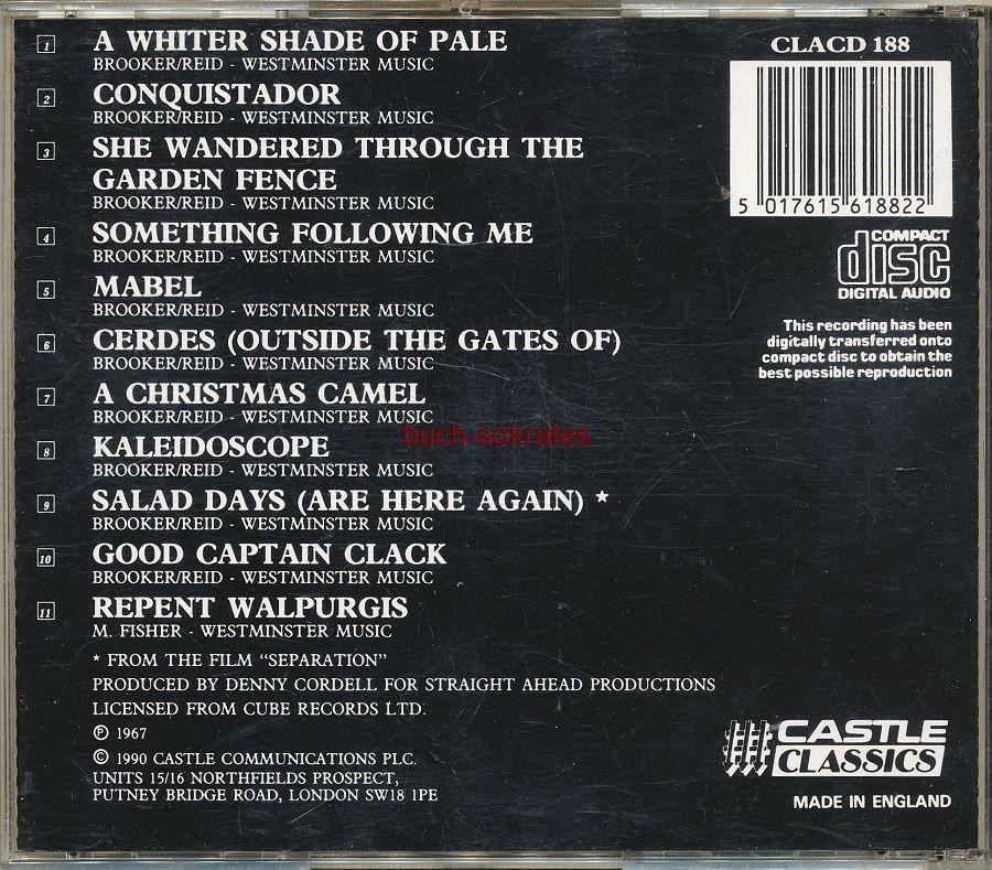 Audio-CD Procol Harum: A Whiter Shade of Pale (Castle Classics, 1990)