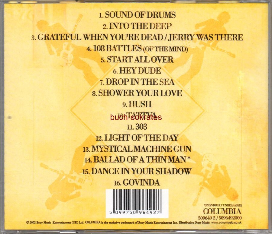 Audio-CD Kula Shaker: Kollected. The Best of Kula Shaker (Sony Music / Columbia, 2002, 16 tracks, inkl. Dylan-Cover Ballad of a thin man!)