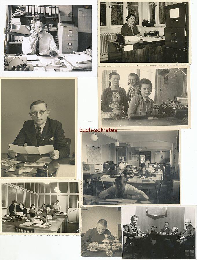 Foto Büros, Büroangestellte, Schreibstuben, Schreibmaschinen, Telefone (ca. 1930-1960)