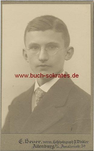 Junger Mann aus Altenburg (ca. 1910)