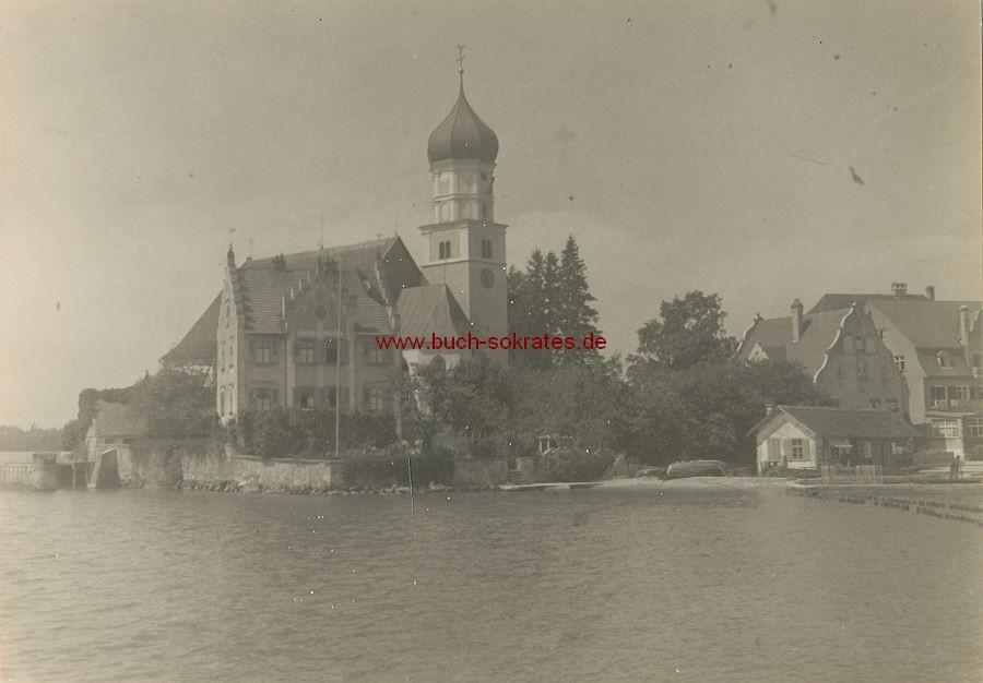 Foto Ansicht Wasserburg / Bodensee Katholische Pfarrkirche St. Georg (ca. 1936)
