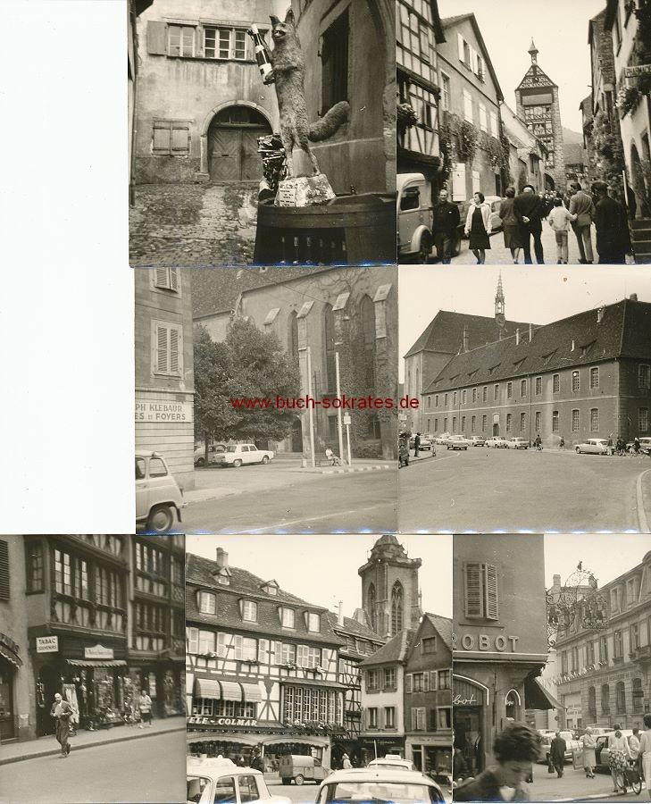 Foto Topographische Ansichten Colmar u. Reichenweier / Elsass (1968)