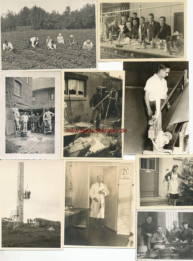 Foto Arbeit / Arbeitswelt / Arbeiter - Maurer, Bauarbeiter (ca. 1930-1960)