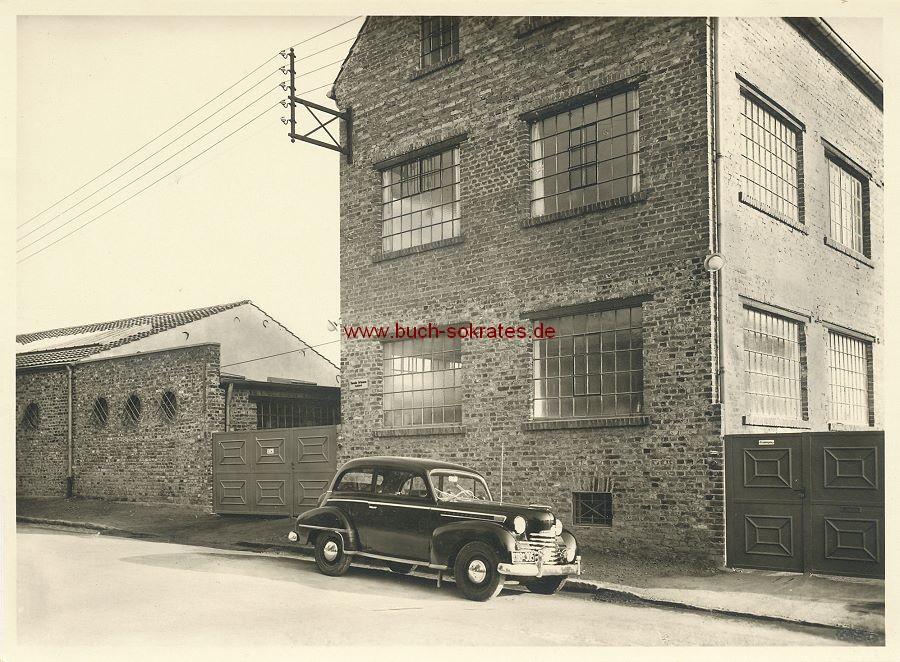 Foto Tuchfabrik Theodor Ortmanns in Aachen-Brand, Eckenerstraße 31 (ca. 1950)