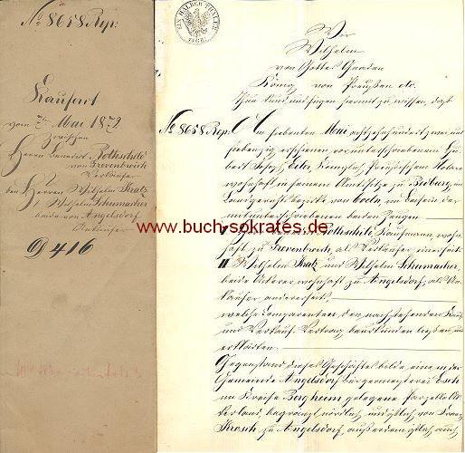 Kaufact Kaufvertrag von 1872