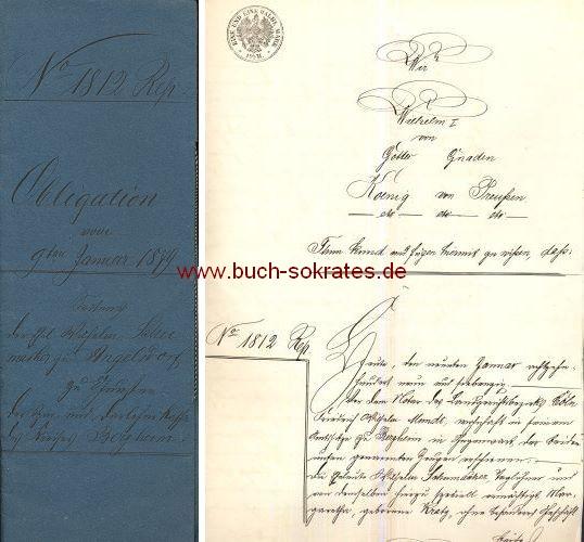 Schuldschein Obligation über 300 Mark von 1879