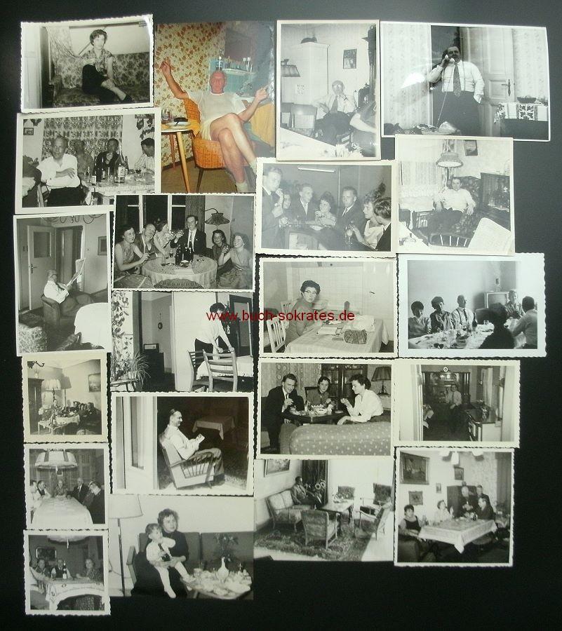 Foto-Konvolut Wohnungen / Inneneinrichtungen / Wohnkultur / Interieurs / Möbel (ca. 1930-1980)