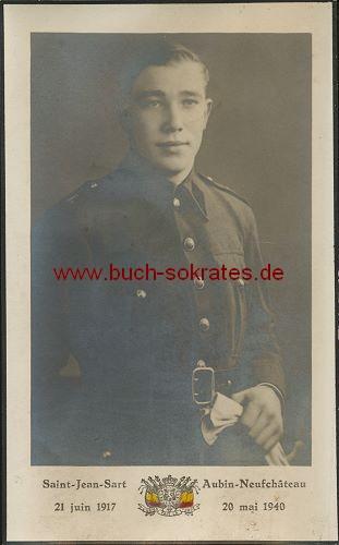 Soldat aus Saint-Jean-Sart / Belgien in Uniform (1941)
