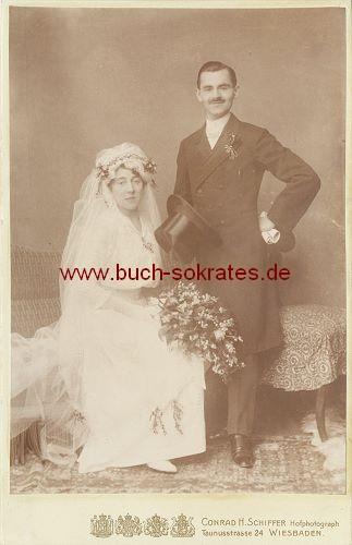 Braut-Paar aus Wiesbaden (ca. 1910)