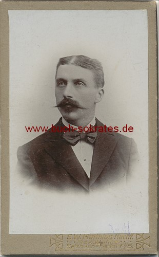 buchversand sokrates foto o a carte de visite foto mann mittleren alters. Black Bedroom Furniture Sets. Home Design Ideas