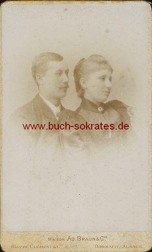 (Ehe-)Paar aus Dornach, Alsace / Elsass (ca. 1900)