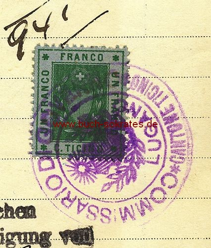 Dokument Geschäftsbrief Kredit Union Bank / Banca Unione di Credito - Lugano, Tessin / Schweiz mit Stempelmarke (1921)