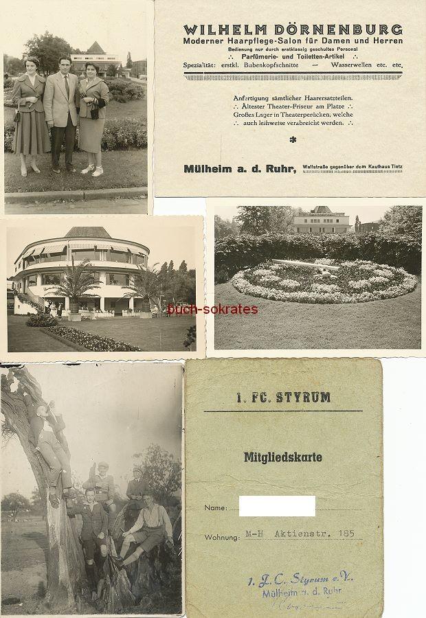 Foto Ansichten u. Personen aus Mülheim an der Ruhr: Wasserbahnhof, Bahnsteig am Hauptbahnhof, Freilichtbühne (ca. 1930-93)