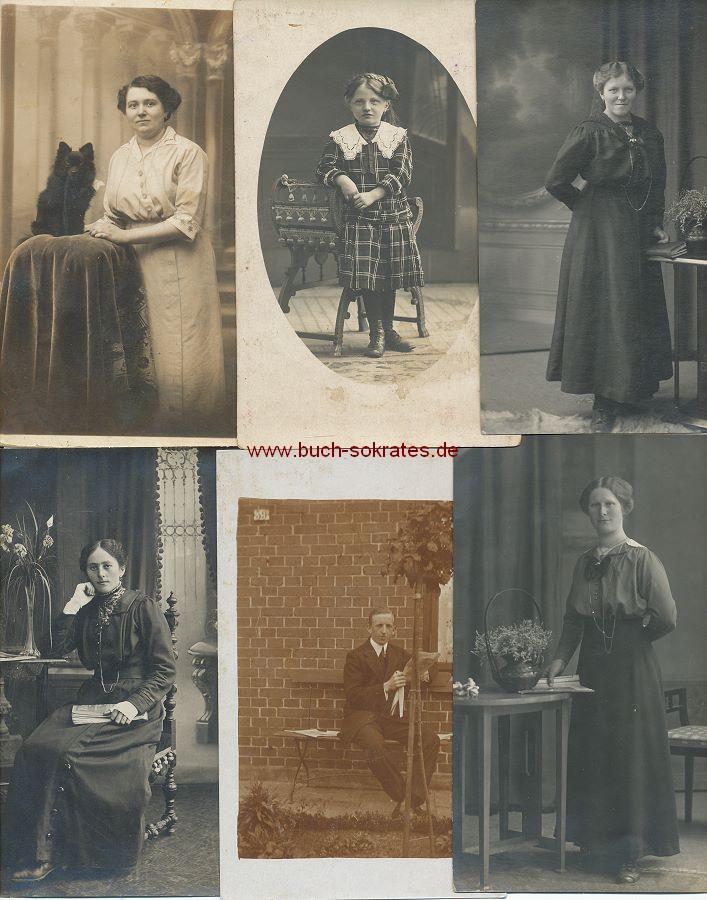 Foto-Konvolut Porträts, Gruppenbilder etc. (ca. 1910-50)