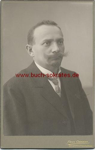 Foto Mann aus Oelsnitz im Vogtland (ca. 1910)