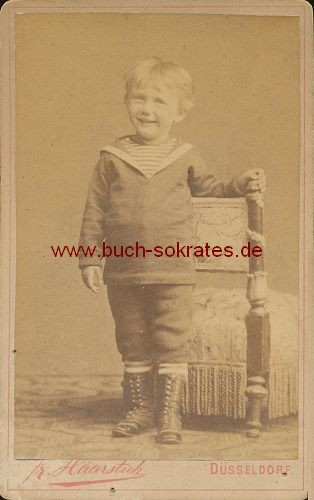 Kleiner Junge Aus Dusseldorf Ca 1880 Zustandsbeschreibung Visitenkarte Carte De Visite