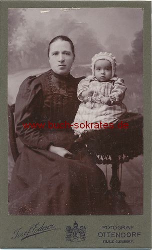 CdV Foto Frau mittleren Alters aus Ottendorf/Gleisdorf / Steiermark Österreich (ca. 1900)
