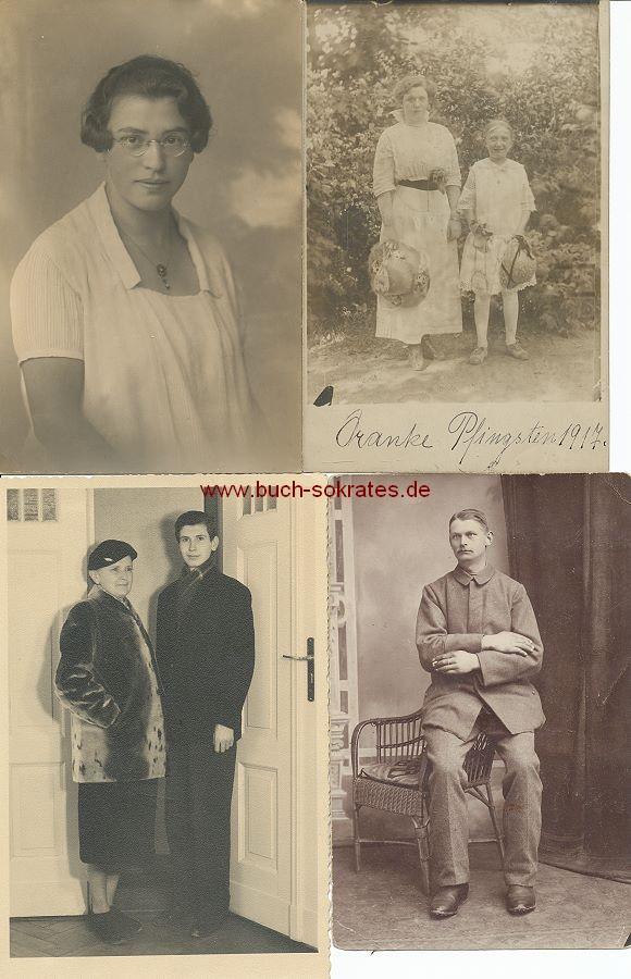 Foto-Konvolut Porträts, Gruppenbilder etc. (ca. 1910-60)