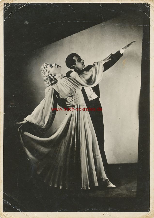 Foto Tanzpaar La Mara et Rudé in stilisierter Pose (ca. 1935)
