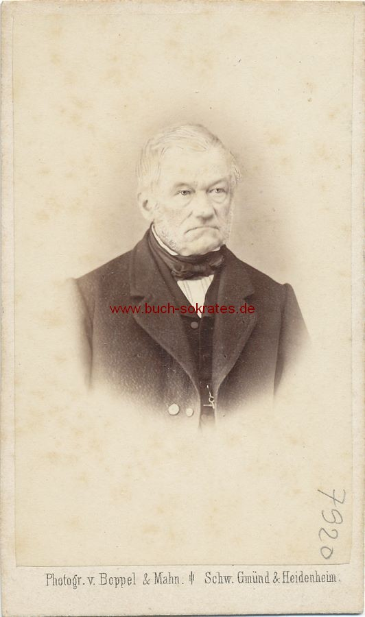 CdV Foto Älterer Mann aus Heidenheim (ca. 1870)
