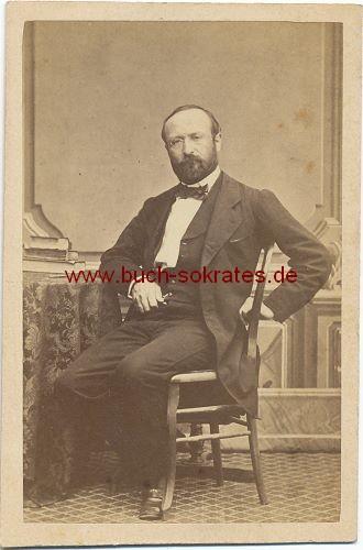CdV Foto Mann aus Lausanne, Société Photographique Lausanne. Détraz Directeur (ca. 1870)
