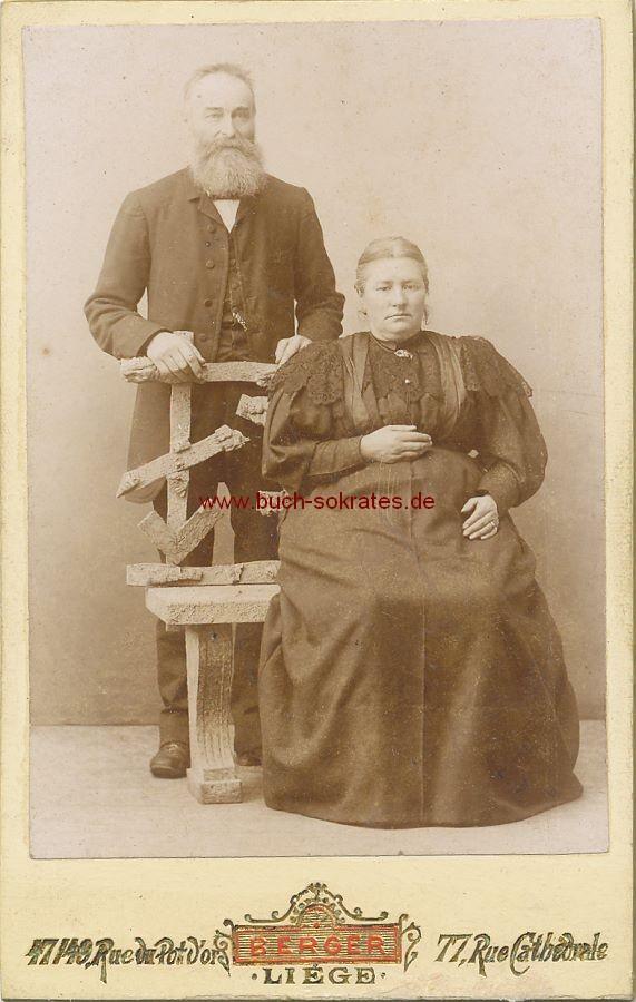 CdV Foto Paar aus Liege / Lüttich (ca. 1900)
