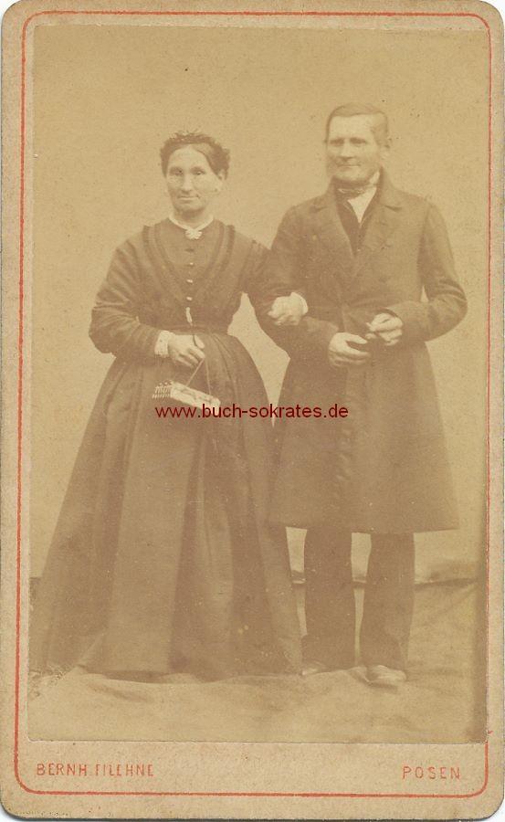 CdV Foto Paar Aus Posen Ca 1870 Zustandsbeschreibung Visitenkarte Carte De Visite
