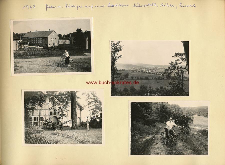 Foto-Album Paar aus Ausflug im Oldtimer nach Weimar, Eisenach, Petzow, Mülverstedt, Potsdam - ca. 1960-70