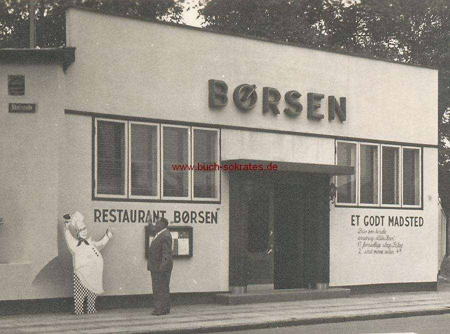 Foto Ansichten aus Esberg / Esbjerg (Dänemark): Restaurant Børsen (Skulagade oder Skolegade-Straße) / Innenstadt mit Den Danske Landmandsbank