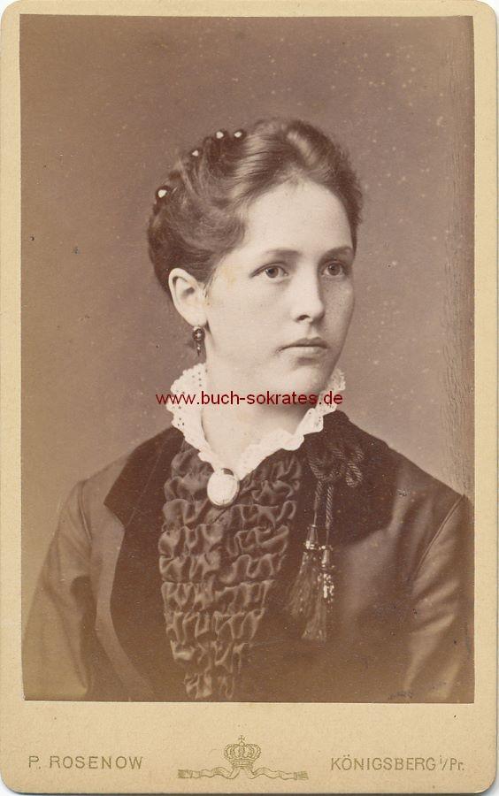 CdV Foto Junge Frau Aus Konigsberg Ostpreussen Mit Spitzenkragen Ca 1880 Zustandsbeschreibung Visitenkarte Carte De Visite