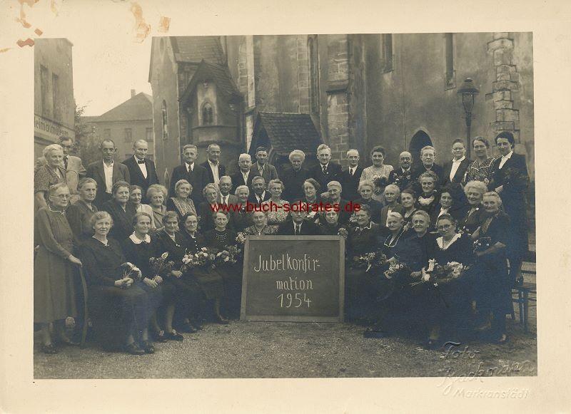 Foto Jubelkonfirmation 1954 Markranstädt (1954)